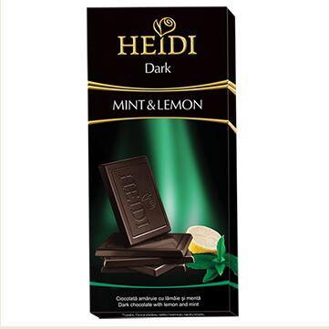 瑞士赫蒂檸檬薄荷黑巧克力80克