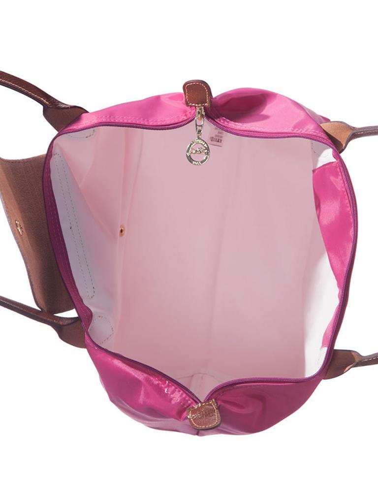 [1899-M號] 國外Outlet代購正品 法國巴黎 Longchamp 長柄 購物袋防水尼龍手提肩背水餃包粉色 3