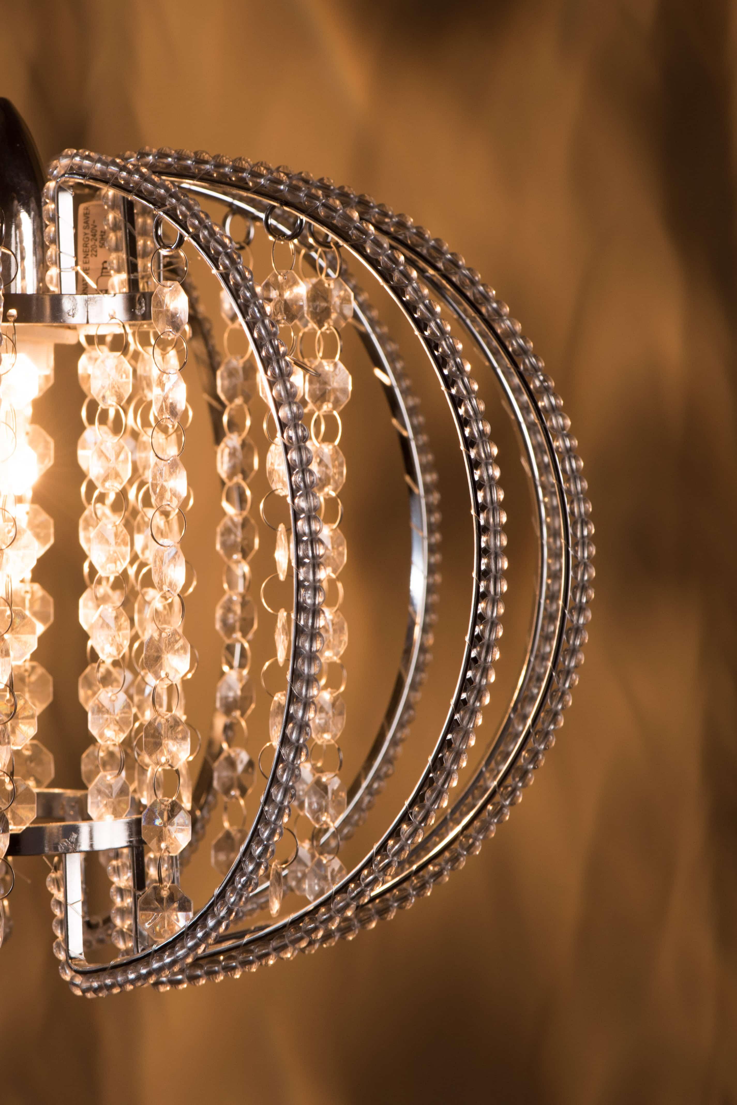 鍍鉻圓形透明壓克力珠吊燈-BNL00046 7