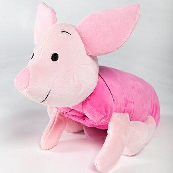 免運 現貨【禾宜精品】迪士尼  小豬 多功能玩偶毯 玩偶 毛毯 枕頭 Zoobies Disney Piglet  YZB116