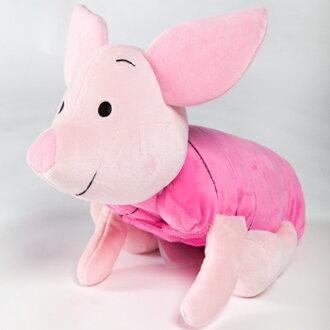 免運【禾宜精品】迪士尼 小豬 多功能玩偶毯 玩偶 毛毯 枕頭 Zoobies Disney Piglet YZB116 現貨馬上出