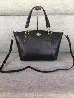 美國Outlet代購 Coach 全新正品 F36675 黑色斜跨手提水餃包 小號 購物包 手提包 逛街包