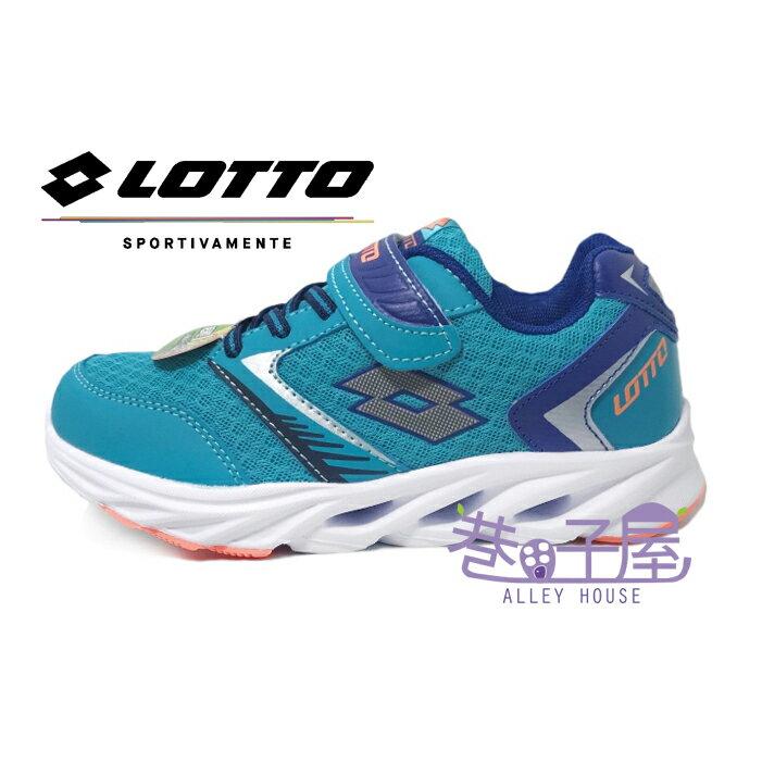 【巷子屋】義大利第一品牌-LOTTO 男童風動減震透氣超輕量運動慢跑鞋 138g [5636] 藍 超值價$398