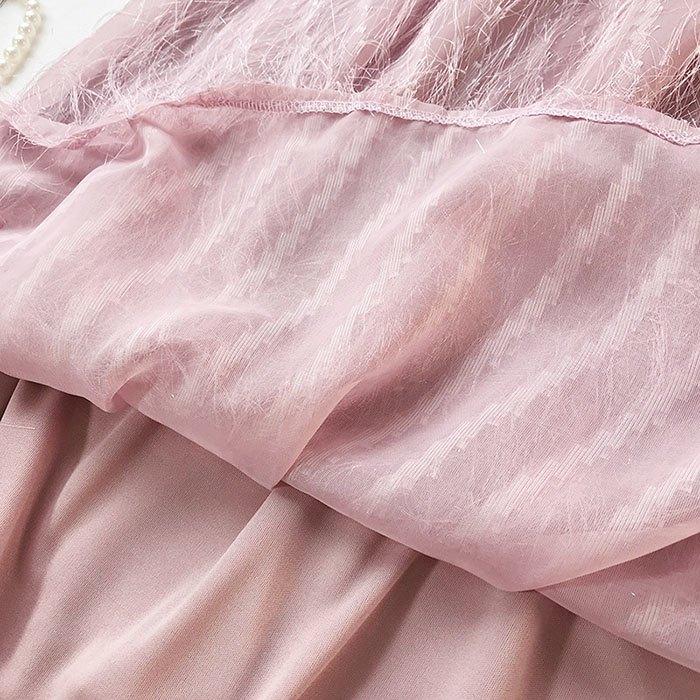 長裙 素色 流蘇裙 雪紡 羽毛 A字裙 鬆緊腰 長裙【HA409】 BOBI  02 / 14 9