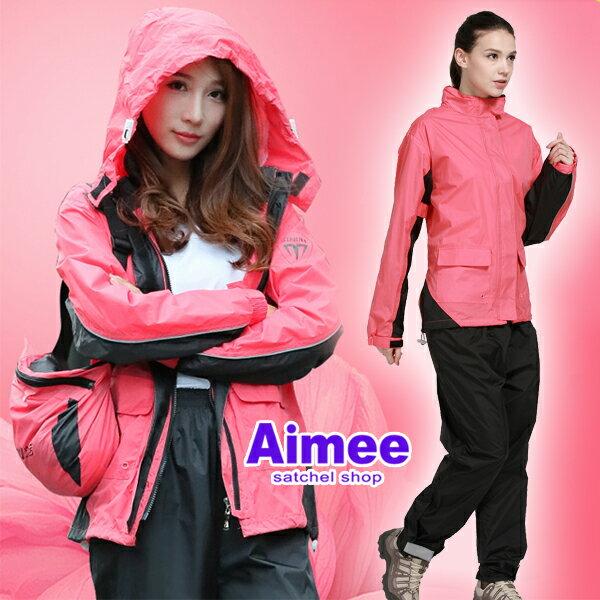 【Aimee】公司貨高品質不漏水!女用型‧登山運動暴風雨颱風騎機車兩件式雨衣風衣運動外套下雪衣釣魚衣服防風防水外套運動服