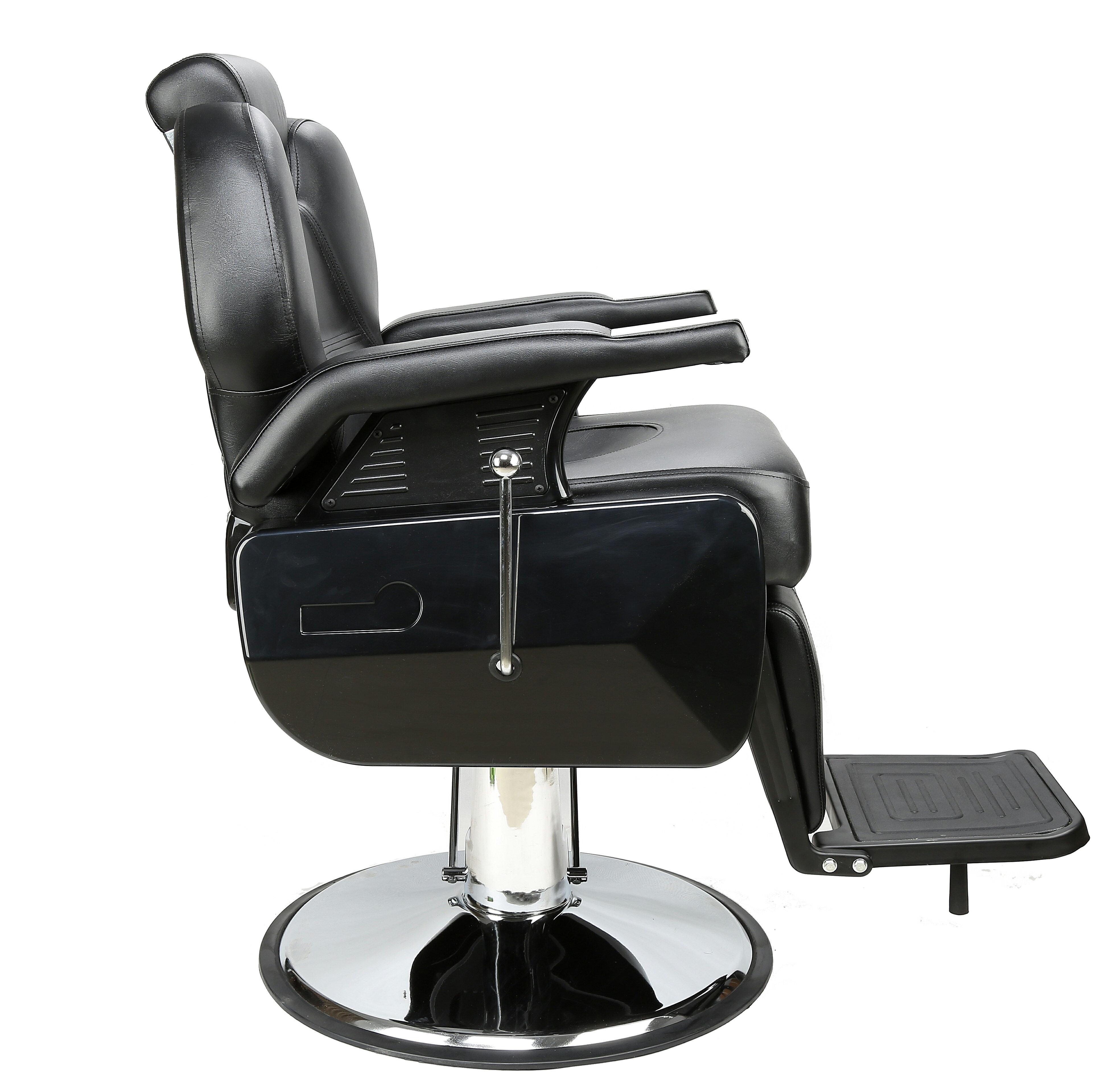 BarberPub All Purpose Hydraulic Recline Salon Beauty Spa Styling Barber Chair Black 3
