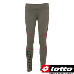 義大利第一品牌-LOTTO樂得 女款奈米竹炭纖維保暖二級緊身長褲/運動緊身褲 [1098] 灰【巷子屋】