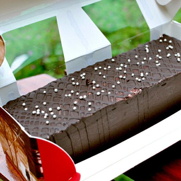 濃情脆皮巧克力糕(450g)★愛家純素美食 全素蛋糕 素食誕糕 生日旦糕 1