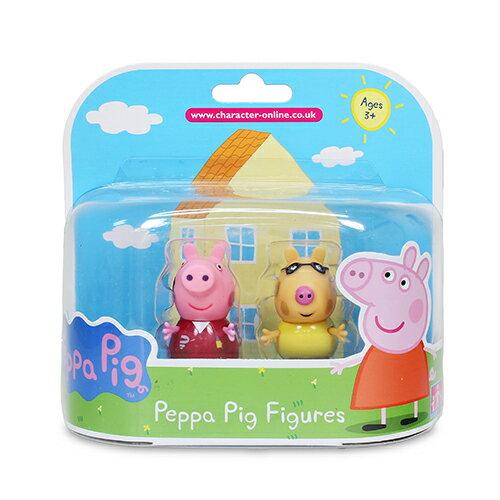 粉紅豬小妹 新2入公仔(混6款)/Peppa Pig/授權商品/YOYO TV卡通/英國知名卡通人物/伯寶行