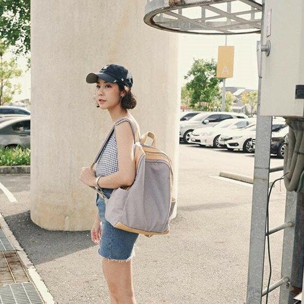 WHITEOAK 超實用多夾層配色backpack帆布包(6色) 8