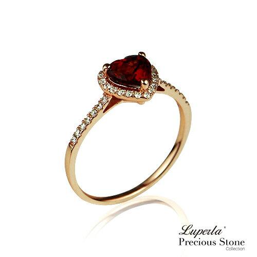 大東山珠寶 摯愛 璀璨玫瑰金 紅石榴寶石戒指 星座愛情