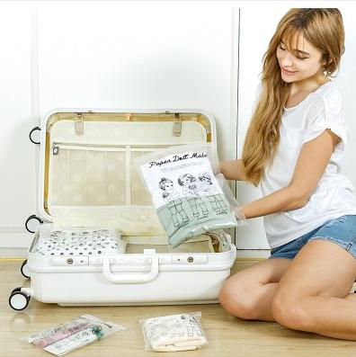 美麗大街【BF151E01】SAFEBET 劉濤同款韓國可愛娃娃透明防水旅行衣物收納袋衣物鞋子整理袋(8個裝)環保材料無異味
