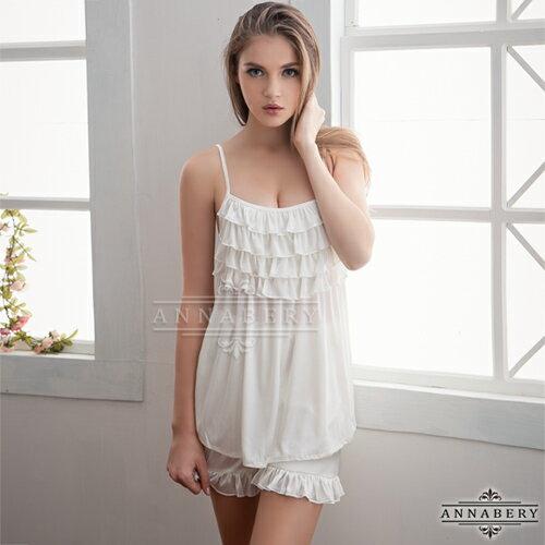亞娜絲情趣用品荷葉層疊可愛上衣短褲組大尺碼睡衣