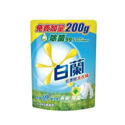 白蘭茶樹除菌洗衣精補充包(1.8kg*6入/箱)