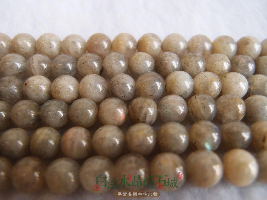 白法水晶礦石城 天然~拉長石 8mm 礦質 串珠 條珠 首飾材料^(一件不留 五折區^)