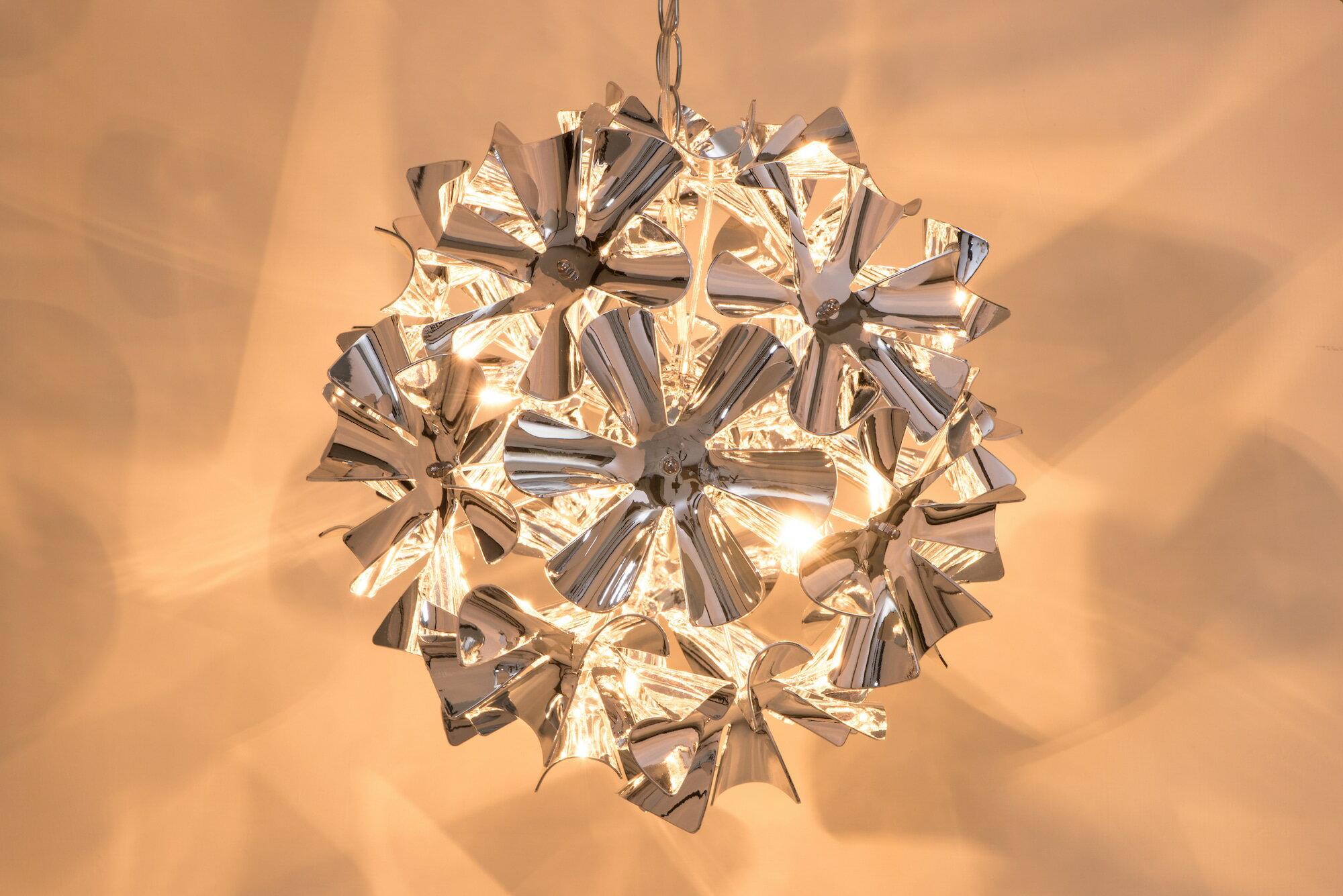 鍍鉻波浪花紋吊燈-BNL00052 6