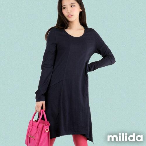 【Milida,全店七折免運】-秋冬單品-洋裝款-長版休閒風 8