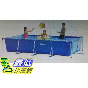 [COSCO代購如果售完謹致歉意]W1011115Intex4.5x2.2公尺金屬支架長方型泳池
