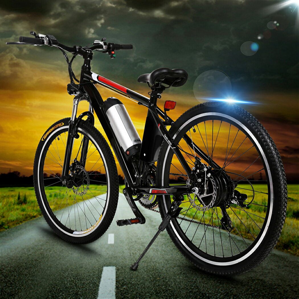 Ancheer 25 inch Wheel Aluminum Alloy Frame Mountain Bike Cycling Bicycle Black 0