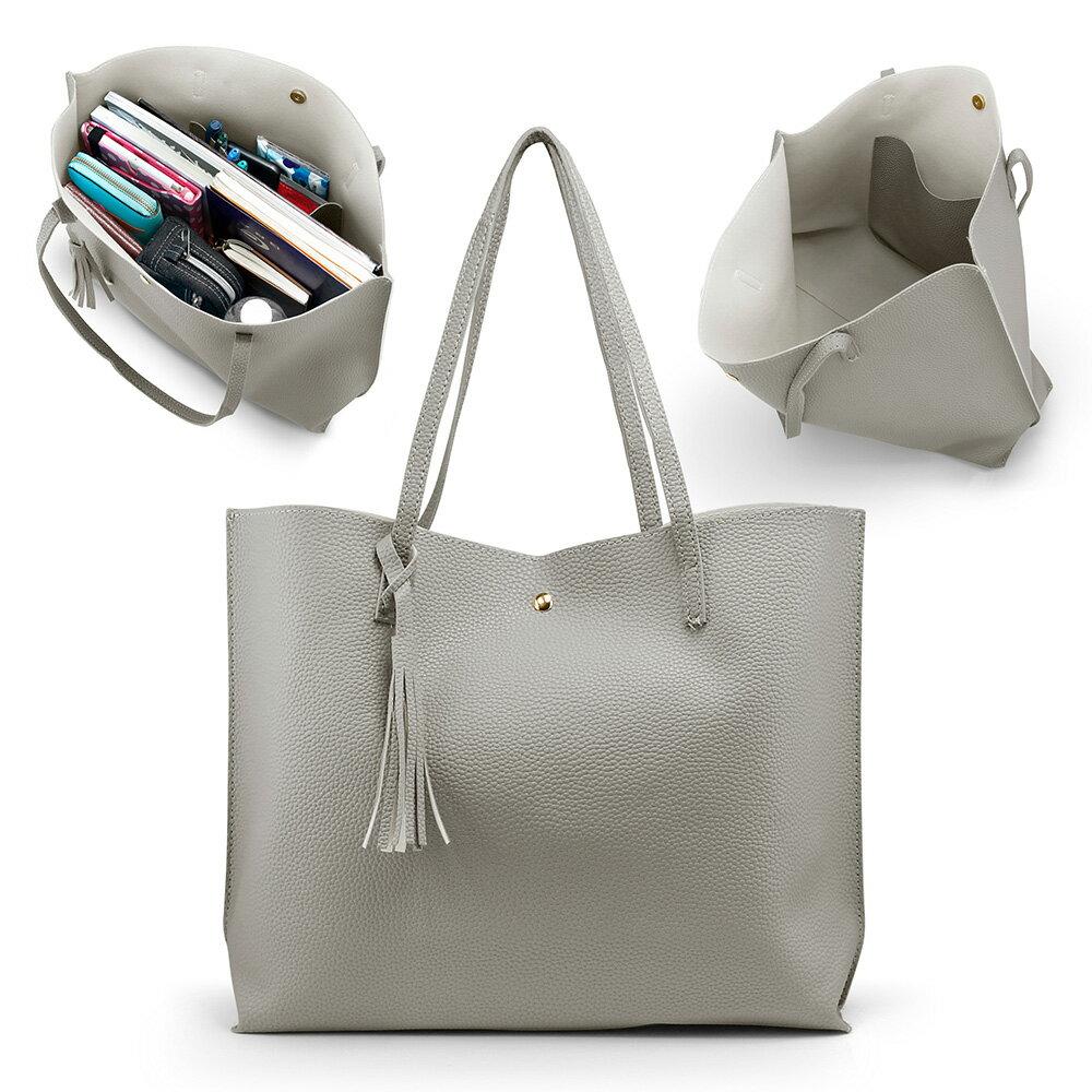 aafc2da44eee Women Tote Bag Tassels Leather Shoulder Handbags Fashion Ladies Purses  Satchel Messenger Bags