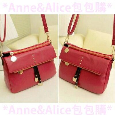 ~ Anne  Alice 包包購 ~~ 糖果色真皮流蘇軟皮單肩小包斜跨側肩背包 款~紅色