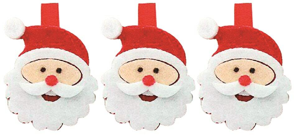 X射線【X077206】聖誕老公公夾子(3入),聖誕節/聖誕佈置/聖誕掛飾/聖誕裝飾/聖誕吊飾/聖誕花材