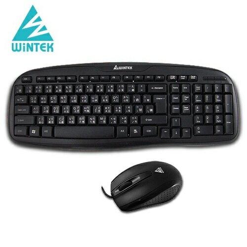 WINTEK黑武士鍵盤滑鼠組WM700USB黑色