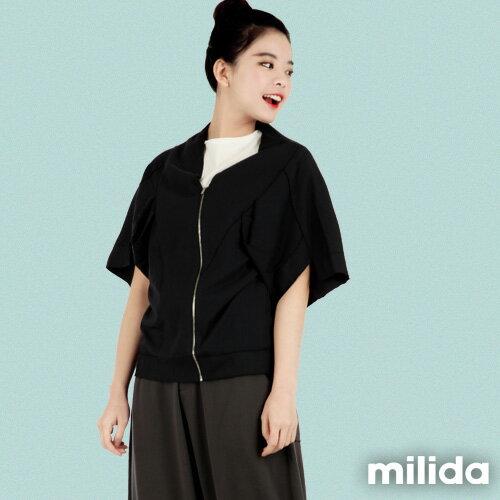 【Milida,全店七折免運】-早春商品-外套款-五分袖短版設計 2