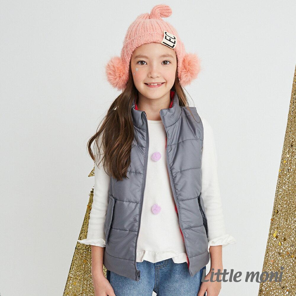 Little moni 3M科技羽絨保暖雙面穿背心-灰色 1