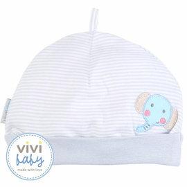 ViViBaby - 泡泡象條紋初生帽