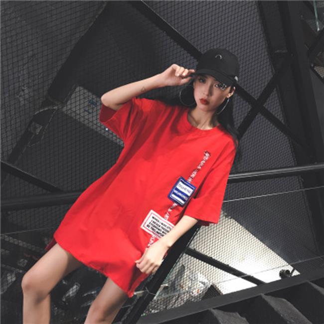 50%OFF SHOP原宿寬鬆休閒T恤中長款色  3色 ~G027130C~~洋裝襯衫長裙