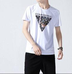 FINDSENSE H1 2018 夏季 新款  高品質 字母圖案印花  舒適透氣 男  純棉T恤 短袖 時尚潮男上衣