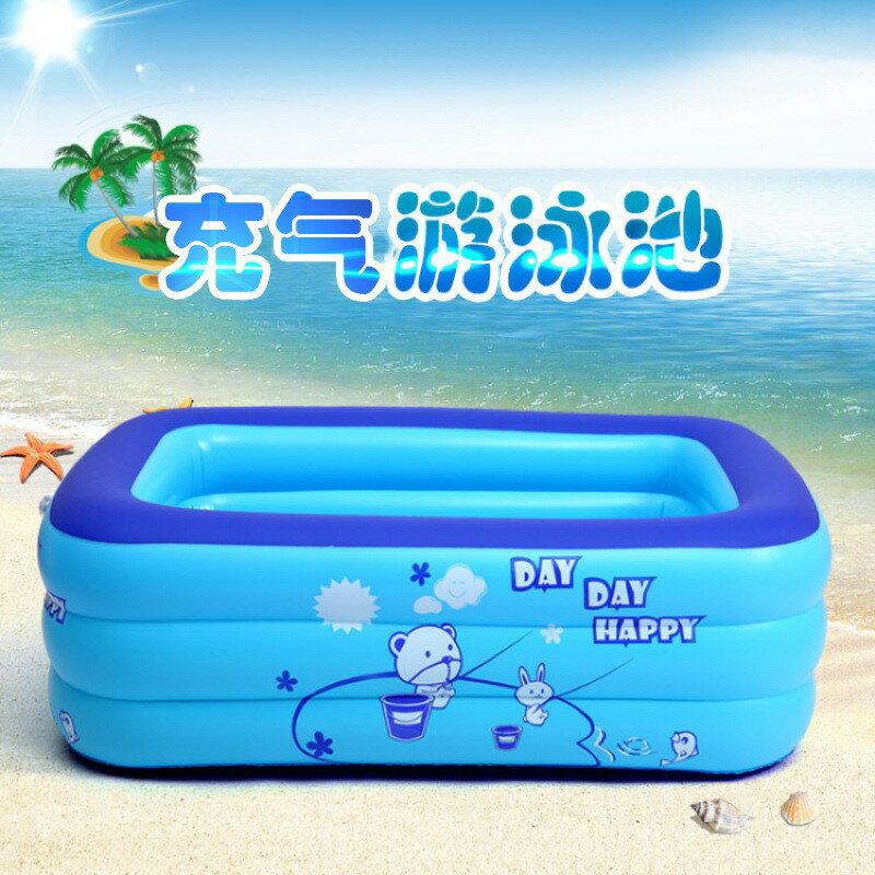 充氣游泳池家用戶外成人大號水池小孩洗澡池兒童游泳池戲水池