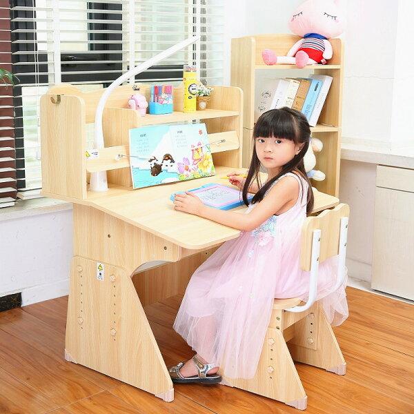快樂奶爸:加大桌椅桌子椅子學習書桌椅電腦桌成長書桌椅矯姿椅功能學習桌電腦椅兒童椅帶書架