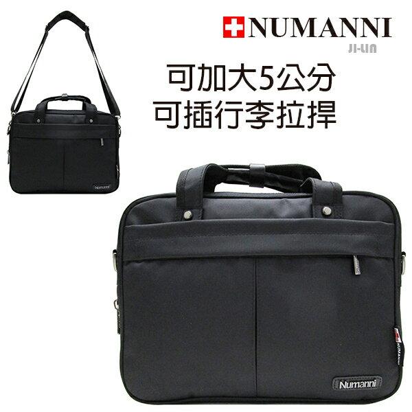 58-604【NUMANNI 奴曼尼】尼龍配皮三用式公事包(可加大)