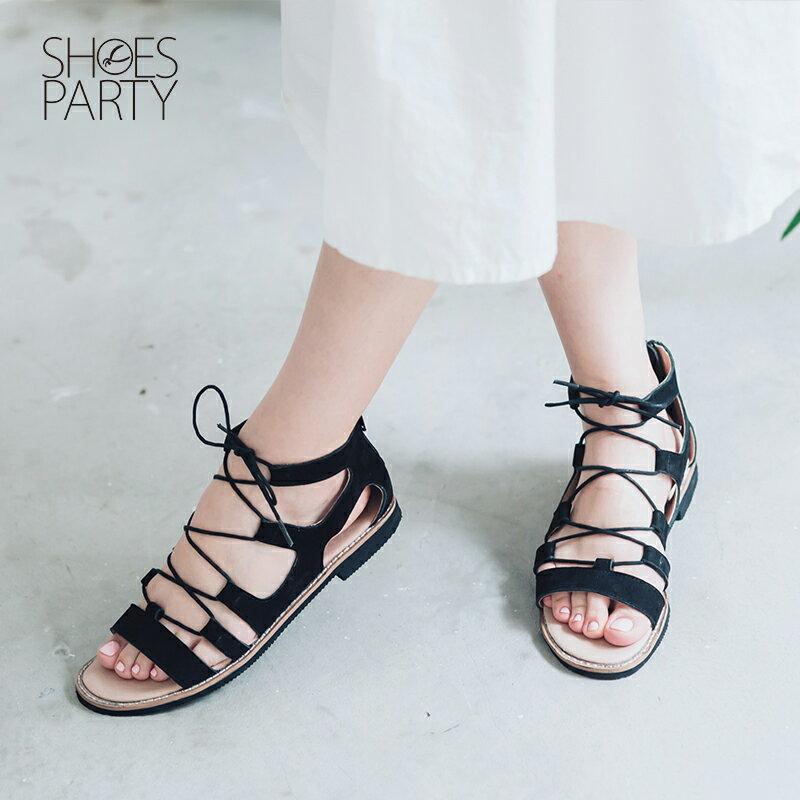 【S2-16018L】夏日必備真皮綁帶羅馬涼鞋_Shoes Party 1