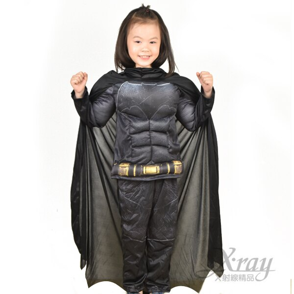 X射線~W370065~蝙蝠俠 肌肉裝^(2件式^),萬聖節服裝  化妝舞會  派對道具