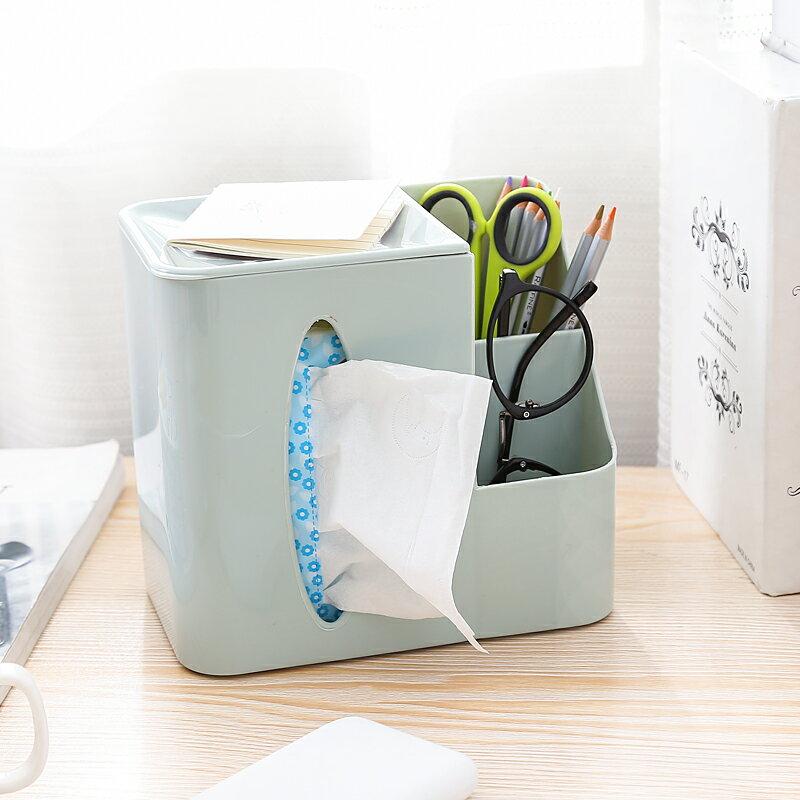 北歐風 桌面收納面紙盒 居家客廳 衛生紙遙控器 多層 收納盒 化妝盒 紙巾盒 團購批發【RS761】 - 限時優惠好康折扣