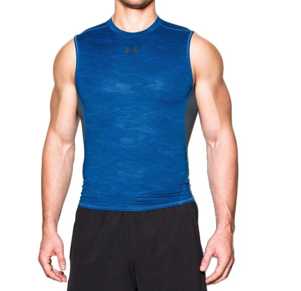 《UA出清5折》Shoestw【1258861-907】UNDERARMOURUA服飾緊身衣背心運動束衣排汗透氣藍色男生