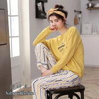 純棉-甜美落肩款居家服套裝(衣+褲) M-XL【漫時光】(D133)-漫時光 Kitty collection-流行女裝推薦