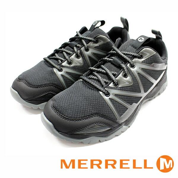 【MERRELL 促銷6折│全店免運】MERRELL CAPRA RISE 男 黑 健行鞋│休閒鞋│運動鞋-ML35833
