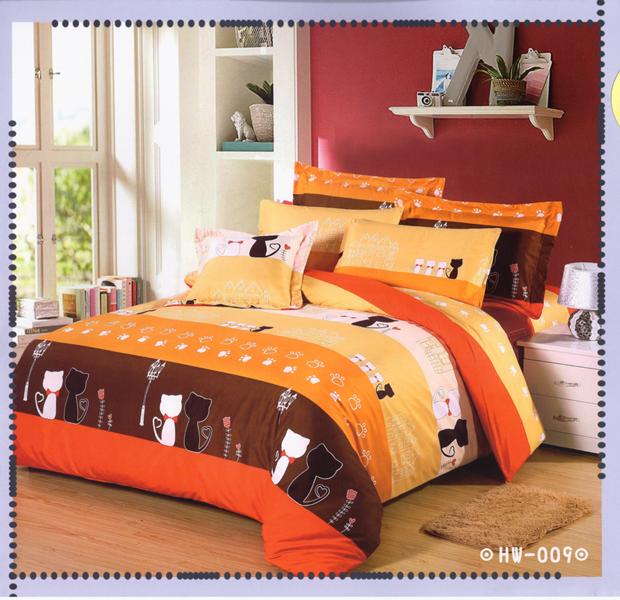 ✧臺灣製✧舒柔棉磨毛超細纖維床包組《HW-009》5X6.2尺雙人床包組+兩用被 四件組◤彩虹森林◥