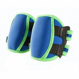 【淘氣寶寶】(蔓葆副牌)Korbie 寶比 寶寶運動護膝 藍色【正面為柔軟粒狀防滑牽引珠設計,內裡為進口潛水布吸汗設計】