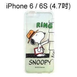 SNOOPY 透明軟殼 [RING] iPhone 6 / 6S (4.7吋) 史努比【台灣正版授權】