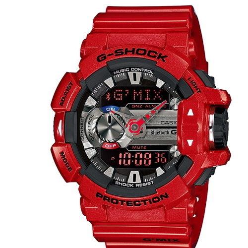 CASIO G-SHOCK GBA-400-4ADR鮮紅藍芽流行時尚腕錶/52mm