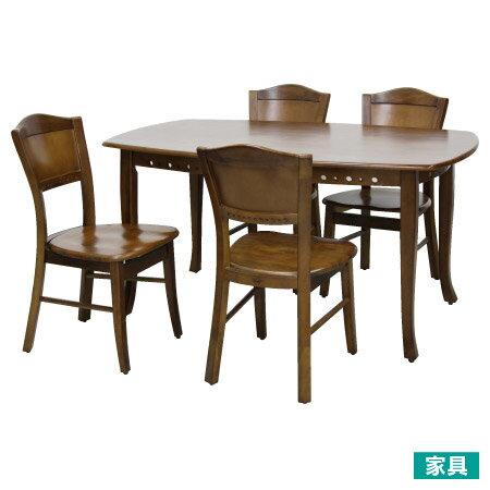 宜得利家居:◎天然木法式餐桌椅組柚木色大NITORI宜得利家居