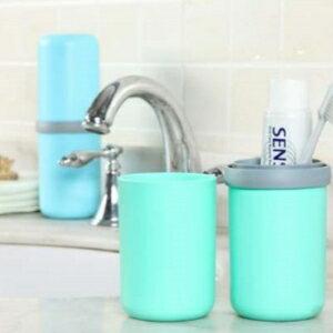 美麗大街【BF120E07E850】創意膠囊旅行漱口杯便攜牙刷杯牙膏收納盒情侶兩用旅途水杯