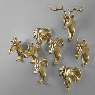 掛勾 動物掛飾-純色環保樹脂美式擺飾6款73pp492【獨家進口】【米蘭精品】 1