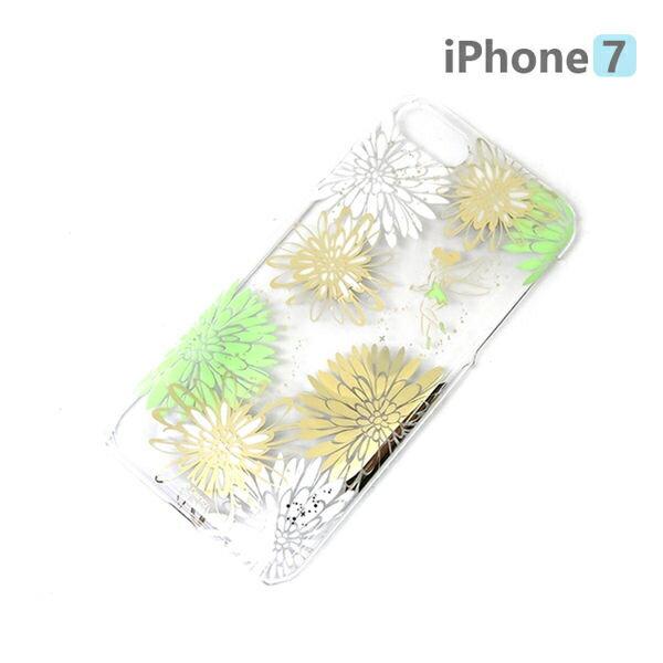 【日本 PGA-iJacket】正版 迪士尼 iPhone7 4.7吋 PC金箔透明系列 硬殼 手機殼 - 小仙女