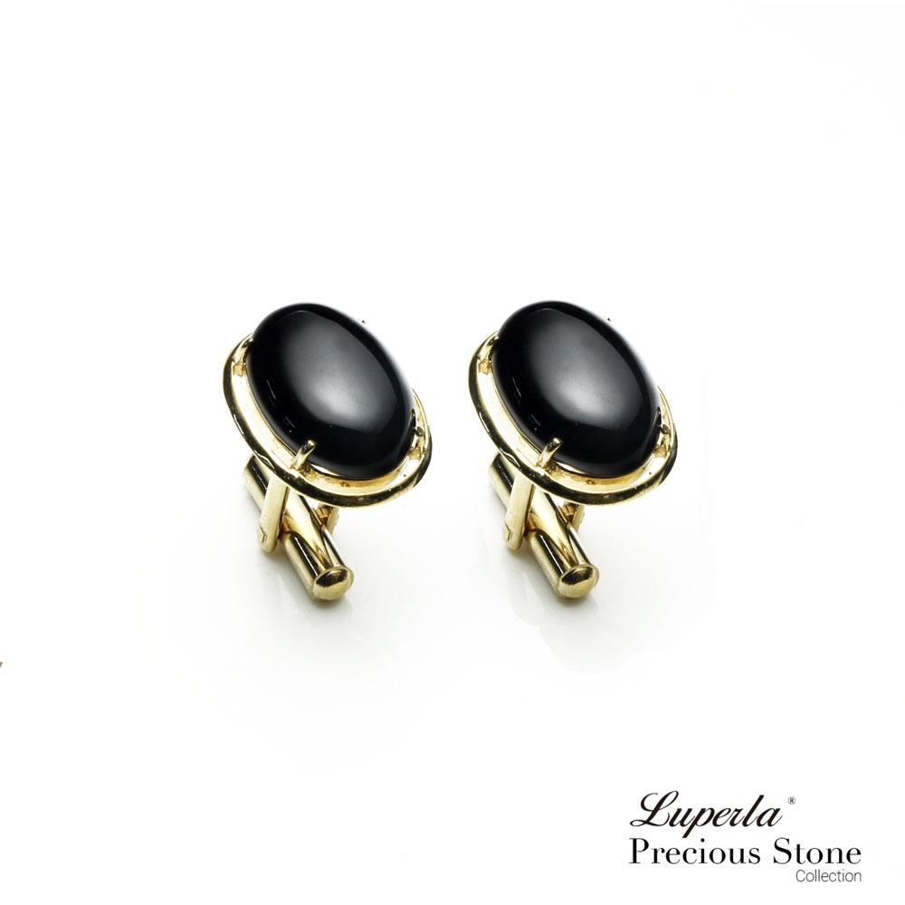 大東山珠寶 極簡黑 仕紳系列 黑瑪瑙  西裝領徽 袖扣 0